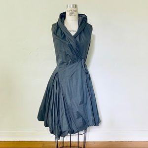 Elan Bubble Hem Wrap Dress